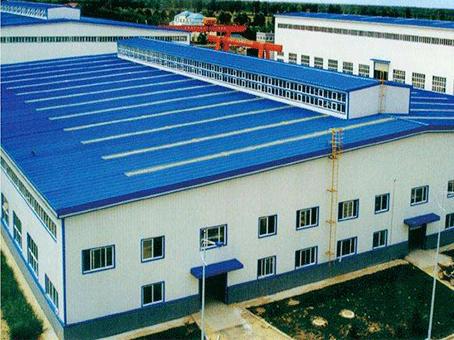 工厂屋顶彩钢瓦安装